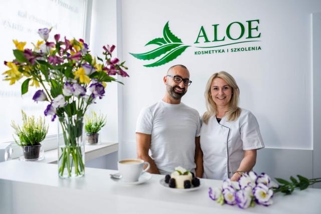 """alt=""""właściciele salonu kosmetycznego ALOE"""""""